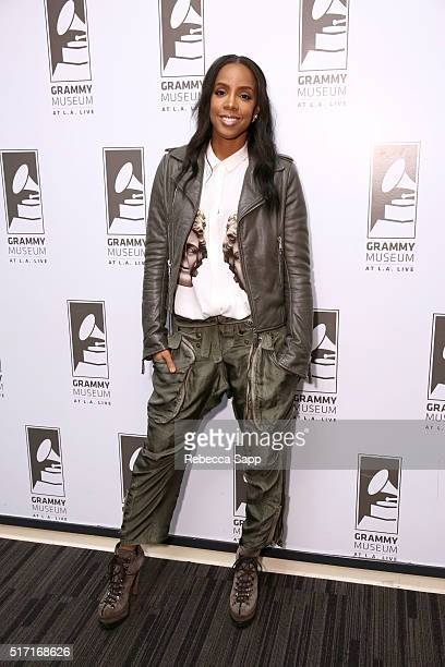 Singer/songwriter Kelly Rowland attends Chasing Destiny With Kelly Rowland at The GRAMMY Museum on March 23 2016 in Los Angeles California