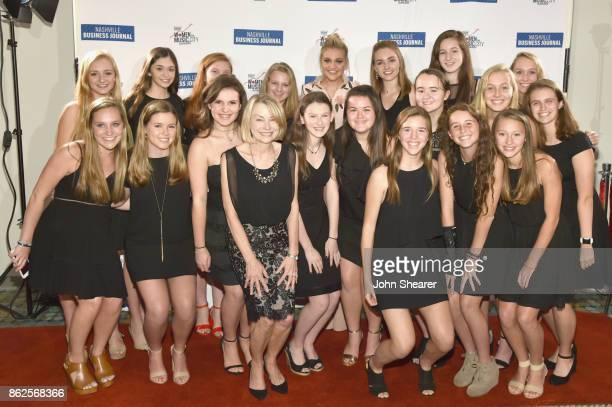 Singersongwriter Kelsea Ballerini and Harpeth Hall School Chamber Choir arriveat the 2017 Nashville Business Journal Women In Music City on October...