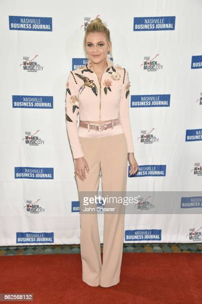 Singersongwriter Kelsea Ballerini arrives at the 2017 Nashville Business Journal Women In Music City on October 17 2017 in Nashville Tennessee