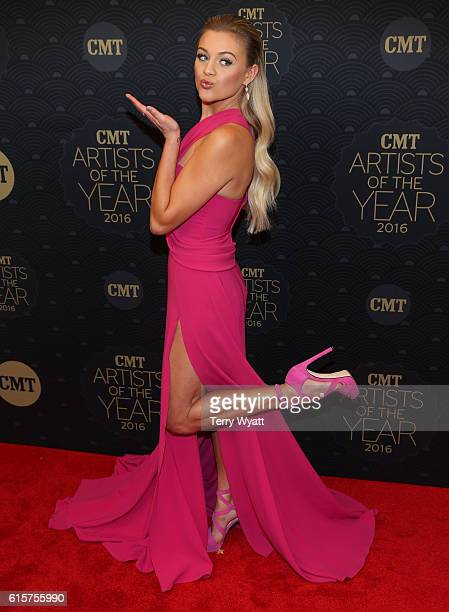 Singersongwriter Kelsea Ballerini arrives on the red carpet at CMT Artists of the Year 2016 at Schermerhorn Symphony Center on October 19 2016 in...