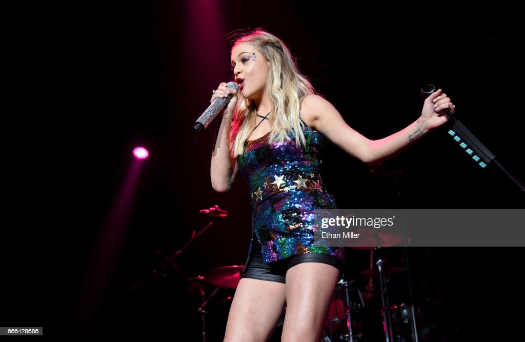 Singer/songwriter Kelsea Ballerini performs during the ACM Party For A Cause: The Joint at The Joint inside the Hard Rock Hotel & Casino on April 1, 2017 in Las Vegas, Nevada.