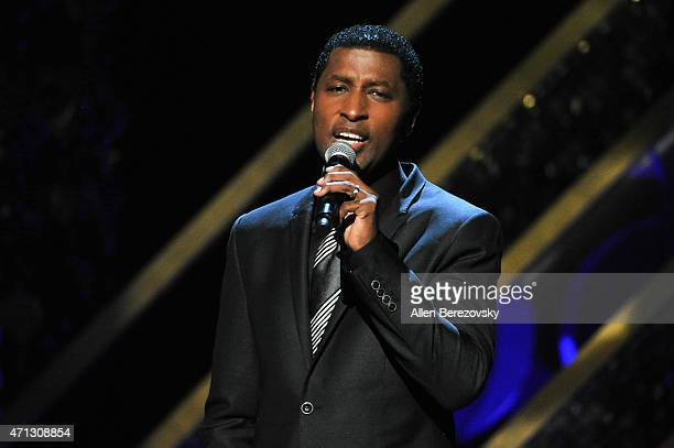 Singer/songwriter Kenneth 'Babyface' Edmonds performs onstage during the 42nd Annual Daytime Emmy Awards at Warner Bros Studios on April 26 2015 in...
