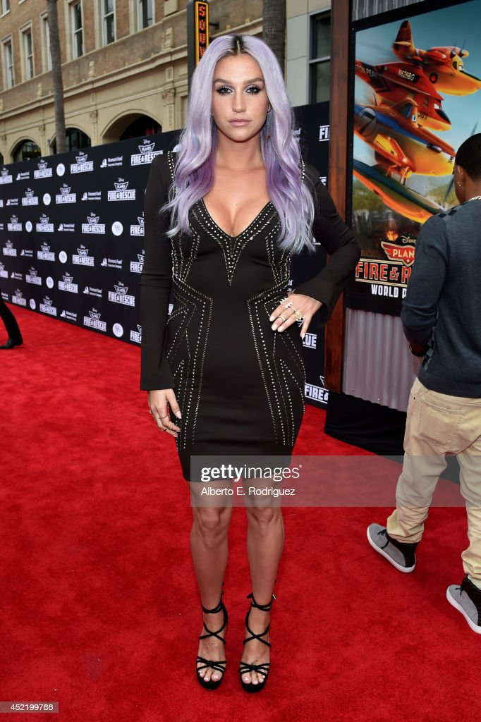 Singer/songwriter Kesha attends World Premiere Of Disney's 'Planes: Fire & Rescue' at the El Capitan Theatre on July 15, 2014 in Hollywood, California.