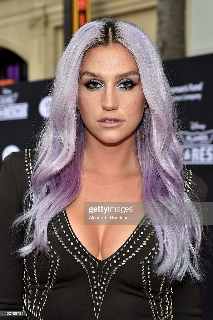 Singer/songwriter Kesha attends World Premiere Of Disney's 'Planes Fire Rescue' at the El Capitan Theatre on July 15 2014 in Hollywood California