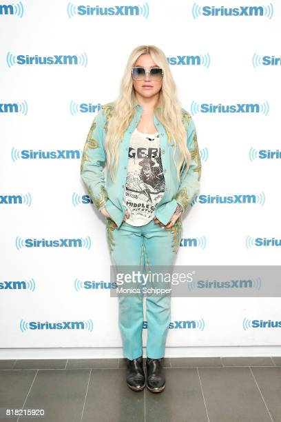Singersongwriter Kesha visits SiriusXM Studios on July 18 2017 in New York City