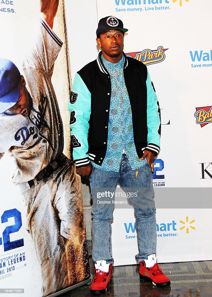 Singer/songwriter Kevin McCall attends the '42' event honoring Jackie Robinson at the Brooklyn Academy of Music on March 25, 2013 in New York City.