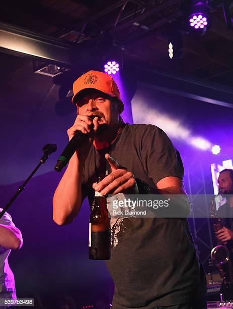 Singer/Songwriter Kid Rock joins Charlie Worsham on stage during Charlie Worsham's Midnight Jam Day 3 on June 10 2016 in Nashville Tennessee