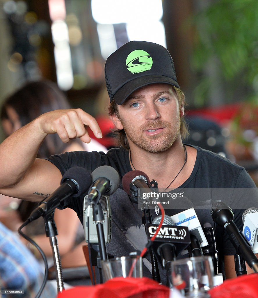 Singer/Songwriter Kip Moore does a Q & A session with local and national press as part of the BMI #1 Party For 'Hey Pretty Girl' by Kip Moore at Flying Saucer Draught Emporium on August 22, 2013 in Nashville, Tennessee.
