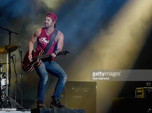 Singer/Songwriter Kip Moore headlines Day 1 County Thunder Music Festivals Arizona on April 7 2016 in Florence Arizona