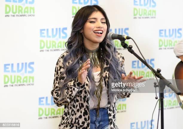Singersongwriter Kirstin Maldonado performs on 'The Elvis Duran Z100 Morning Show' at Z100 Studio on July 25 2017 in New York City