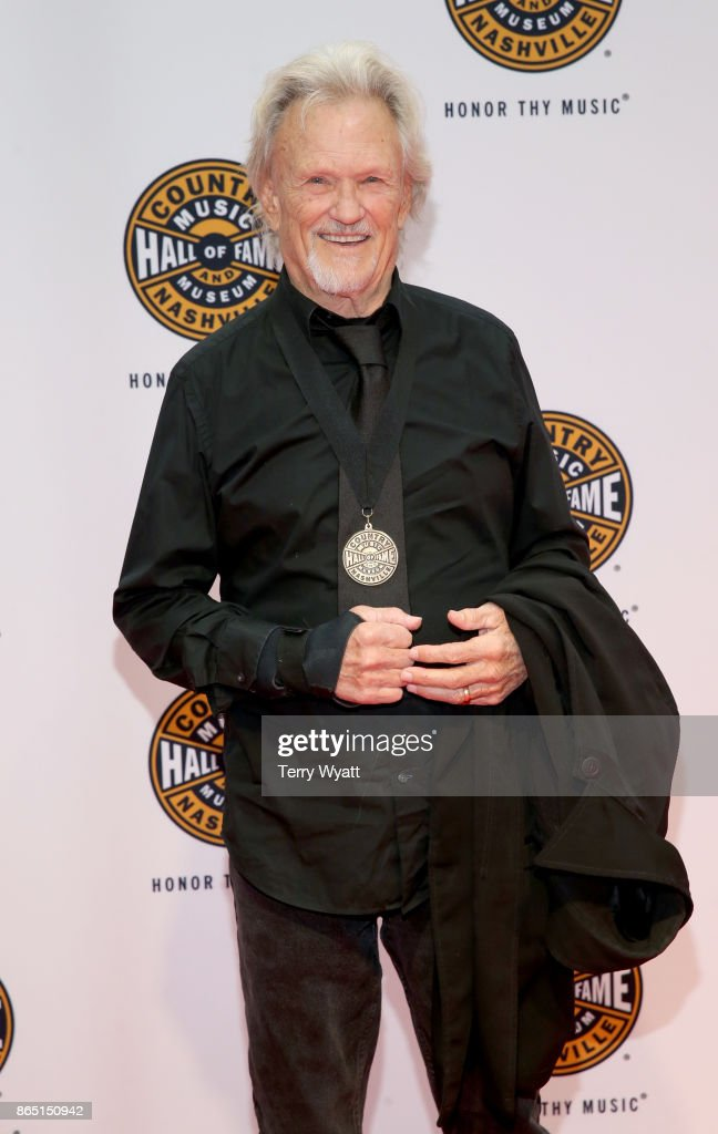 Singer-songwriter Kris Kristofferson attends the Medallion Ceremony to celebrate 2017 hall of fame inductees Alan Jackson, Jerry Reed And Don Schlitz at Country Music Hall of Fame and Museum on October 22, 2017 in Nashville, Tennessee.