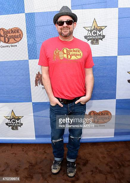 Singersongwriter Kristian Bush attends the Cracker Barrel Old Country Store Country Checkers Challenge at Globe Life Park in Arlington on April 18...