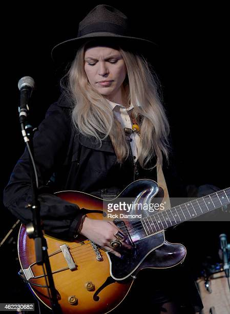Singer/Songwriter Kristin Diable performs during Nashville Sunday Night featuring Angaleena Presley at 3rd Lindsley on January 25 2015 in Nashville...