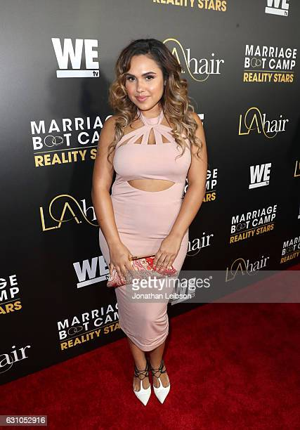 Singer/songwriter Kristinia DeBarge attends WE tv's 'Marriage Boot Camp Reality Stars' and 'LA Hair' Premiere Event on January 5 2017 in Los Angeles...