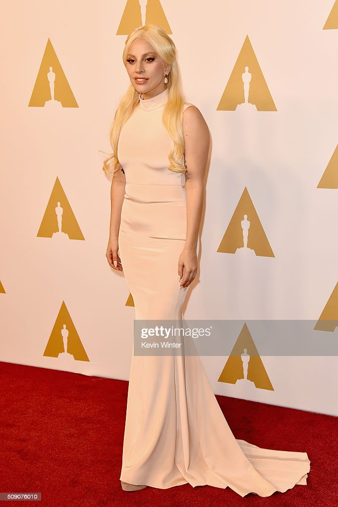 Singer/songwriter <a gi-track='captionPersonalityLinkClicked' href=/galleries/search?phrase=Lady+Gaga&family=editorial&specificpeople=4456754 ng-click='$event.stopPropagation()'>Lady Gaga</a> attends the 88th Annual Academy Awards nominee luncheon on February 8, 2016 in Beverly Hills, California.