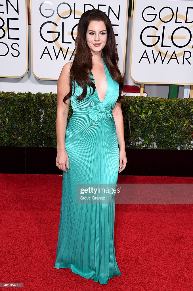 Singer/songwriter Lana Del Rey attends the 72nd Annual Golden Globe Awards at The Beverly Hilton Hotel on January 11 2015 in Beverly Hills California