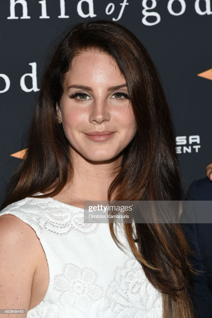 Singersongwriter Lana Del Rey attends the 'Child Of God' premiere at Tribeca Grand Hotel on July 30 2014 in New York City
