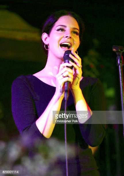 Singersongwriter Lana Del Rey performs for a Spotify event of her new album 'Lust For Life' at No Vacancy on July 20 2017 in Los Angeles California