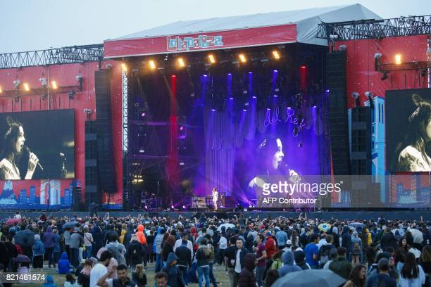 US singersongwriter Lana Del Rey performs on stage during the Lollapalooza music festival at the Longchamp Hippodrome in Paris on July 23 2017 / AFP...