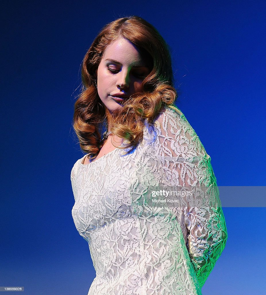 Singer/songwriter <a gi-track='captionPersonalityLinkClicked' href=/galleries/search?phrase=Lana+Del+Rey&family=editorial&specificpeople=8565478 ng-click='$event.stopPropagation()'>Lana Del Rey</a> performs onstage at the P&E Wing Event at The Village Recording Studios on February 8, 2012 in Los Angeles, California.
