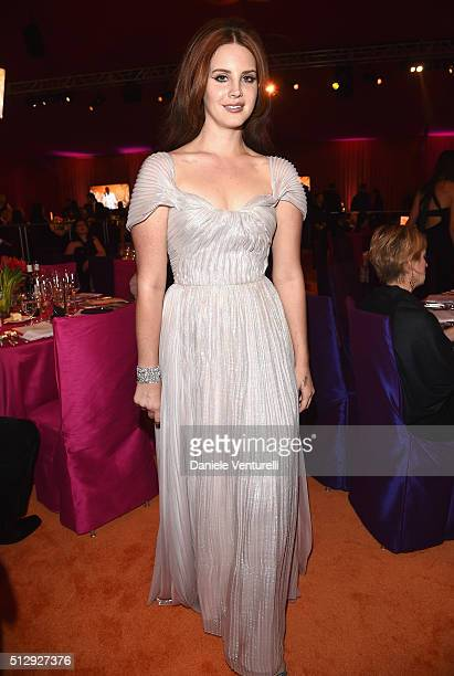 Singersongwriter Lana Del Rey wearing Bulgari attends Bulgari at the 24th Annual Elton John AIDS Foundation's Oscar Viewing Party at The City of West...