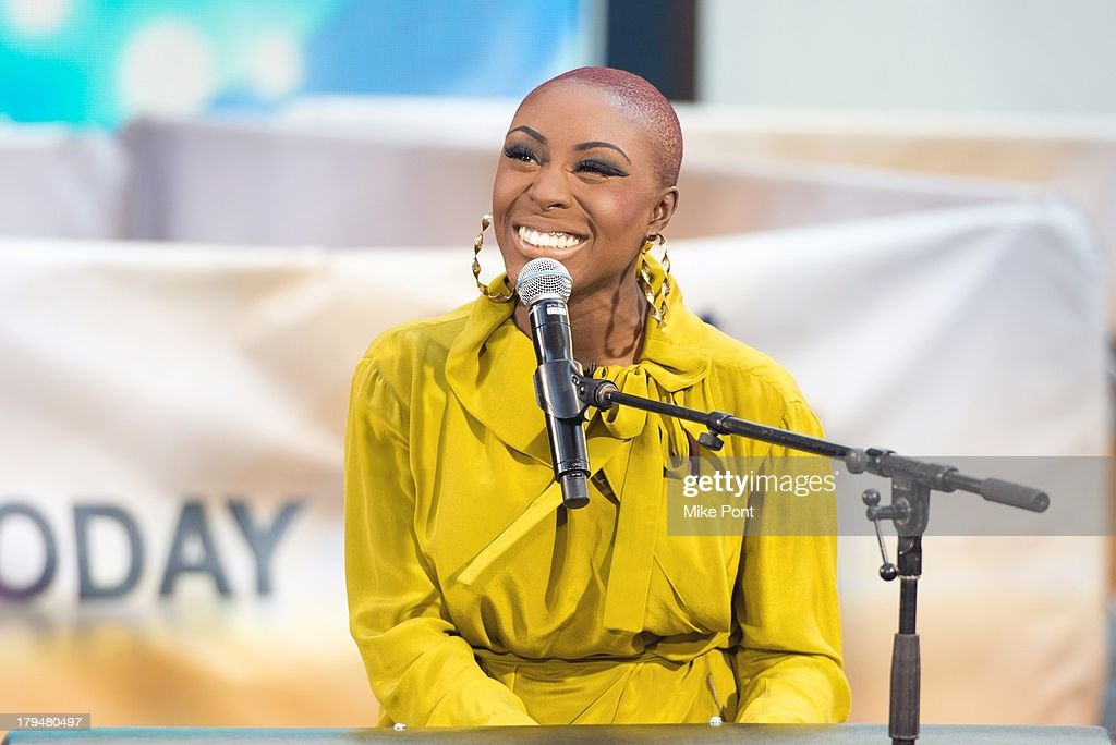 Singer-Songwriter <a gi-track='captionPersonalityLinkClicked' href=/galleries/search?phrase=Laura+Mvula&family=editorial&specificpeople=10006726 ng-click='$event.stopPropagation()'>Laura Mvula</a> peforms on NBC's 'Today' at NBC's TODAY Show on September 4, 2013 in New York City.