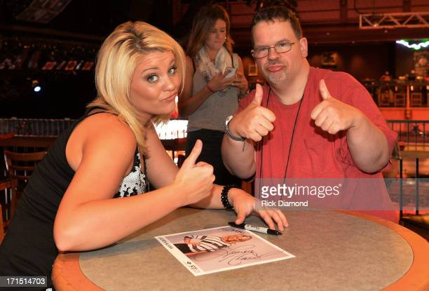 Singer/Songwriter Lauren Alaina spends time with campers attending the ACM Lifting Lives Music Camp Wildhorse Saloon with Lauren Alaina party at the...