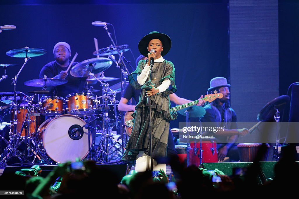 Singer/songwriter Lauryn Hill performs onstage at the Amnesty International Concert presented by the CBGB Festival at Barclays Center on February 5, 2014 in New York City.