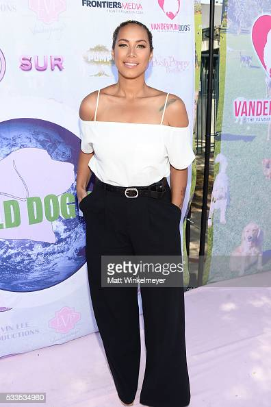 Singersongwriter Leona Lewis attends the World Dog Day Celebration at The City of West Hollywood Park on May 22 2016 in West Hollywood California