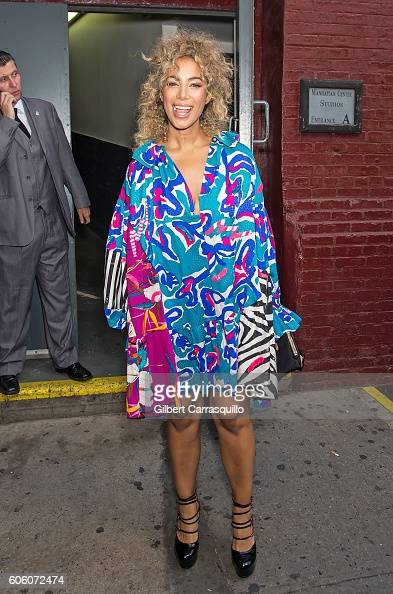 Singersongwriter Leona Lewis is seen leaving at Marc Jacobs Spring 2017 fashion show during New York Fashion Week at Hammerstein Ballroom on...