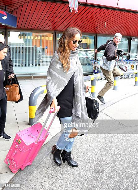 SingerSongwriter Leona Lewis sighted arriving at Tegel Airport on May 9 2014 in Berlin Germany
