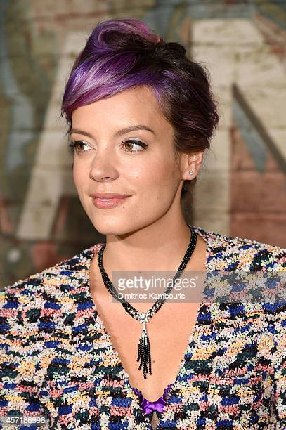 Singersongwriter Lily Allen attends the CHANEL Dinner Celebrating N°5 THE FILM by Baz Luhrmann on October 13 2014 in New York City