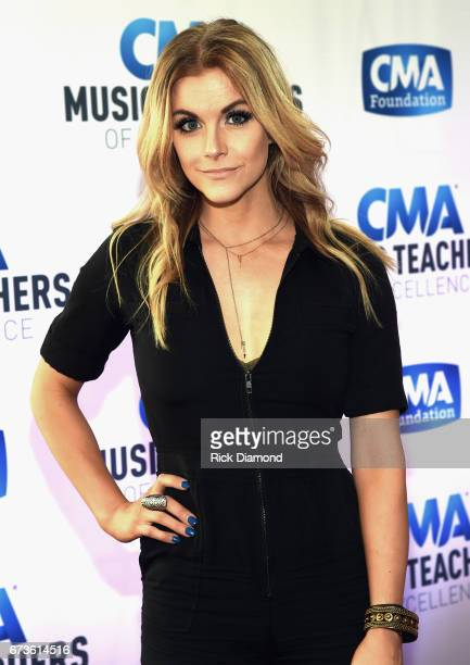 Singer/Songwriter Lindsay Ell attends 2017 CMA Music Teachers Of Excellence Dinner at Nissan Stadium on April 26 2017 in Nashville Tennessee