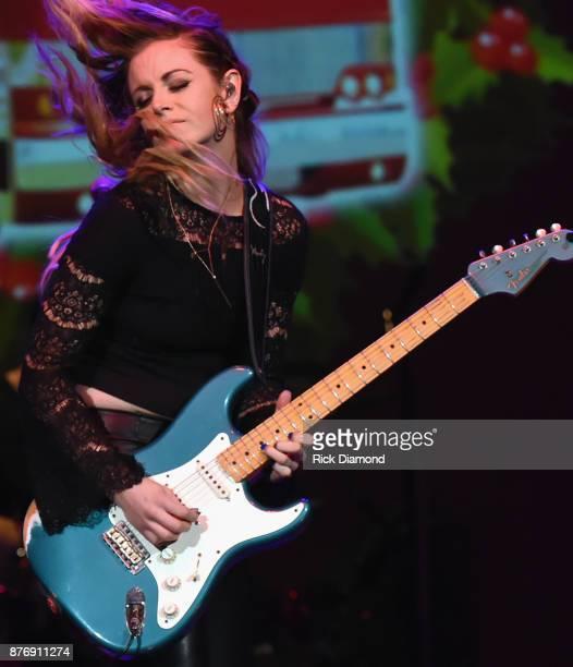 Singer/Songwriter Lindsay Ell performs during 2017 Christmas 4 Kids Concert at Ryman Auditorium on November 20 2017 in Nashville Tennessee