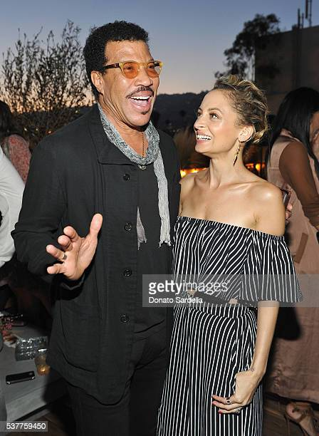 Singersongwriter Lionel Richie and fashion designer Nicole Richie attend House of Harlow 1960 x REVOLVE on June 2 2016 in Los Angeles California