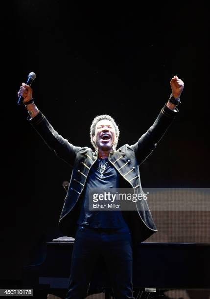 Singer/songwriter Lionel Richie performs during his All the Hits All Night Long tour at the Mandalay Bay Events Center on June 6 2014 in Las Vegas...