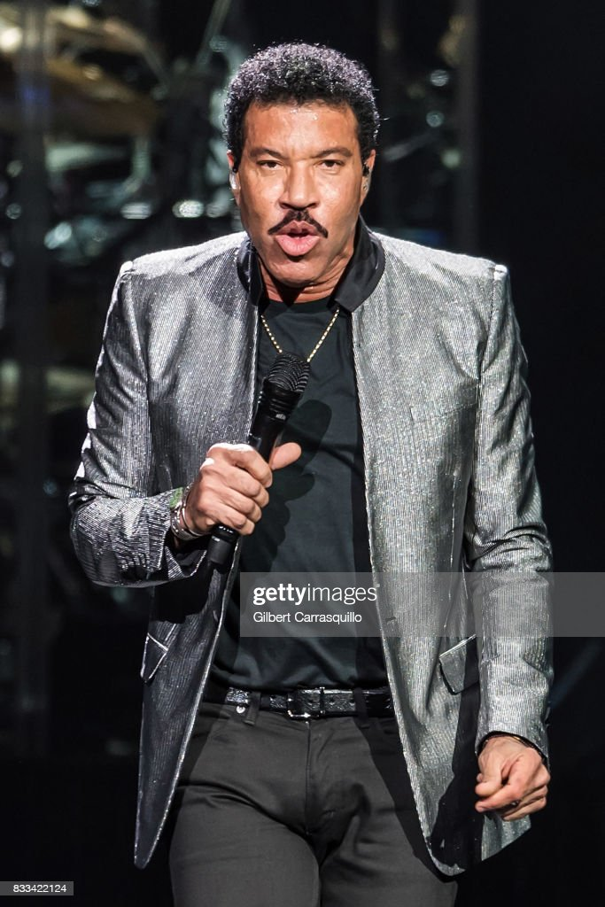 Singer-songwriter Lionel Richie performs during 'Lionel Richie: All The Hits With Very Special Guest Mariah Carey' tour at Wells Fargo Center on August 16, 2017 in Philadelphia, Pennsylvania.