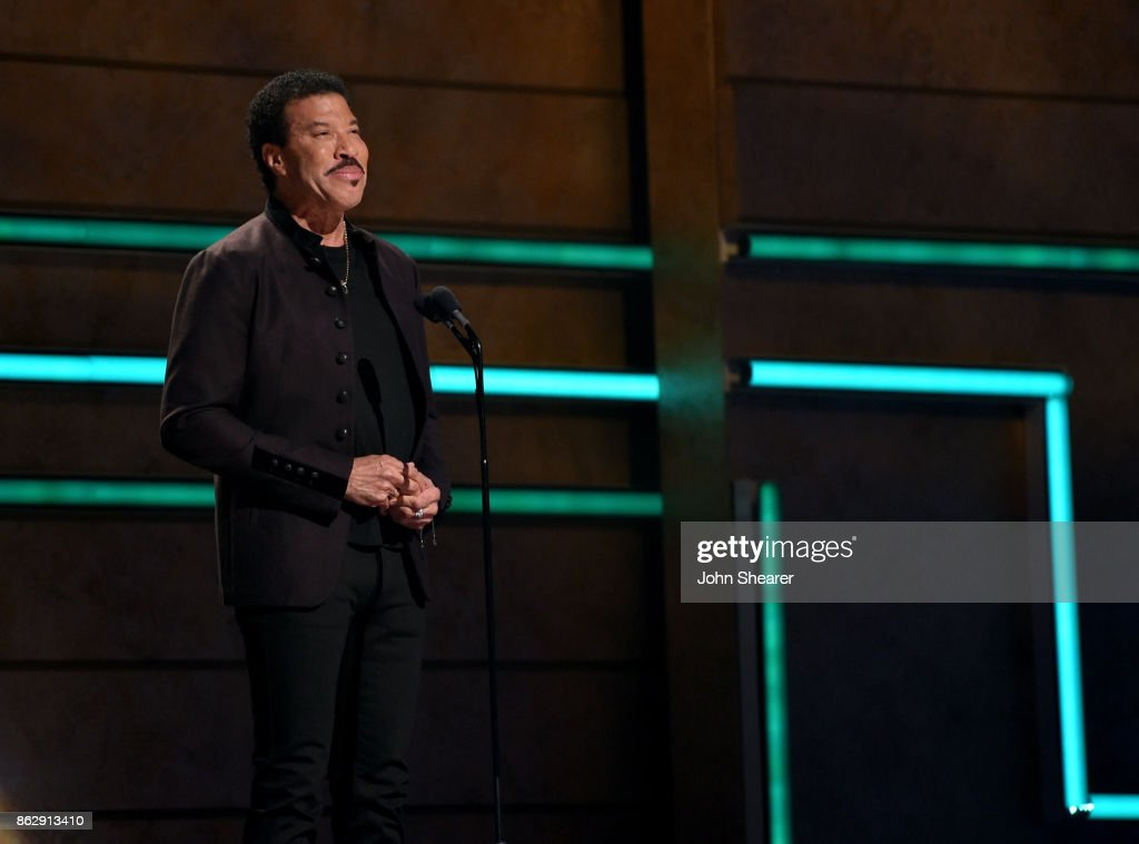 Singer-songwriter Lionel Richie speaks onstage at the 2017 CMT Artists Of The Year on October 18, 2017 in Nashville, Tennessee.