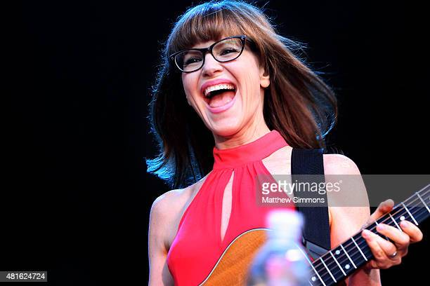 Singersongwriter Lisa Loeb performs onstage at the 2015 summer concert series at The Grove on July 22 2015 in Los Angeles California