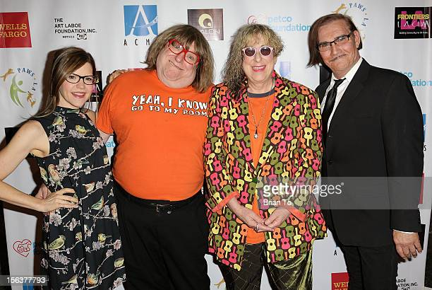 Singersongwriter Lisa Loeb writer Bruce Vilanch songwriter Alle Willis and John Paragon attend PAWS/LA presents An Evening of Comedy and Kitsch at...