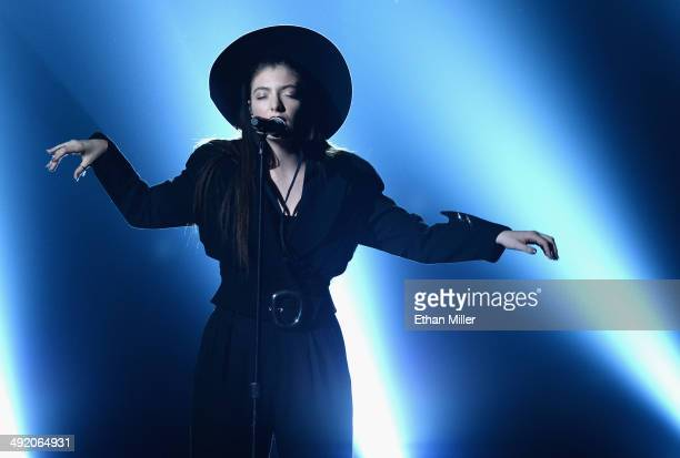 Singer/songwriter Lorde performs onstage during the 2014 Billboard Music Awards at the MGM Grand Garden Arena on May 18 2014 in Las Vegas Nevada