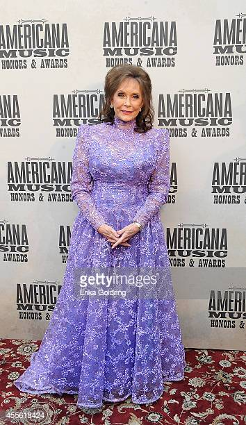 Singersongwriter Loretta Lynn attends the 13th annual Americana Music Association Honors and Awards Show at the Ryman Auditorium on September 17 2014...