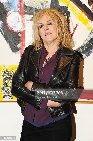Singer/songwriter Lucinda Williams arrives at Mr Musichead Gallery for the 'Miles Davis The Collected Artwork' Launch Party on November 7 2013 in Los...