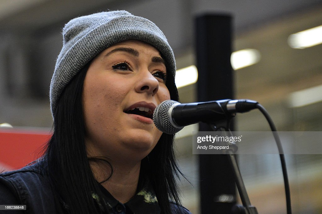 Singer-songwriter Lucy Spraggan performs at Station Sessions Festival 2013 at St Pancras Station on April 10, 2013 in London, England.