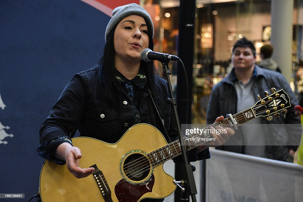 Singer-songwriter Lucy Spraggan performs for Station Sessions Festival 2013 at St Pancras Station on April 10, 2013 in London, England.