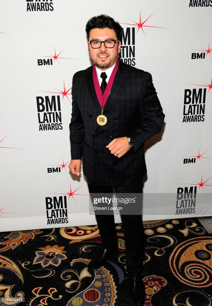 Singer/songwriter Luis Carlos Monroy arrives at the BMI;s 20th Annual Latin Music Awards at the Bellagio on March 21, 2013 in Las Vegas, Nevada.