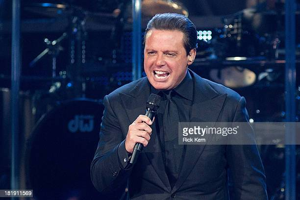 Singersongwriter Luis Miguel performs in concert at the Frank Erwin Center on September 25 2013 in Austin Texas