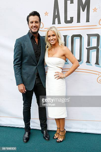 Singersongwriter Luke Bryan and Caroline Boyer attend the 10th Annual ACM Honors at the Ryman Auditorium on August 30 2016 in Nashville Tennessee