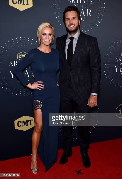 Singersongwriter Luke Bryan and wife Caroline Boyer arrive at the 2017 CMT Artists Of The Year on October 18 2017 in Nashville Tennessee