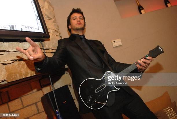 Singer/songwriter Luke Bryan attends Capitol Records Nashville CMA Awards post show celebration at Lay'la Lounge on November 11 2007 in Nashville TN